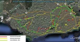 Ciclovias da capital carioca. Fonte: Prefeitura do Rio.
