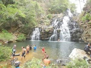 Uma das cinco cachoeiras